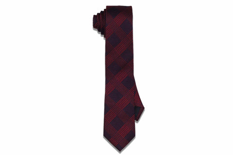 Band Red Stripes Silk Skinny Tie