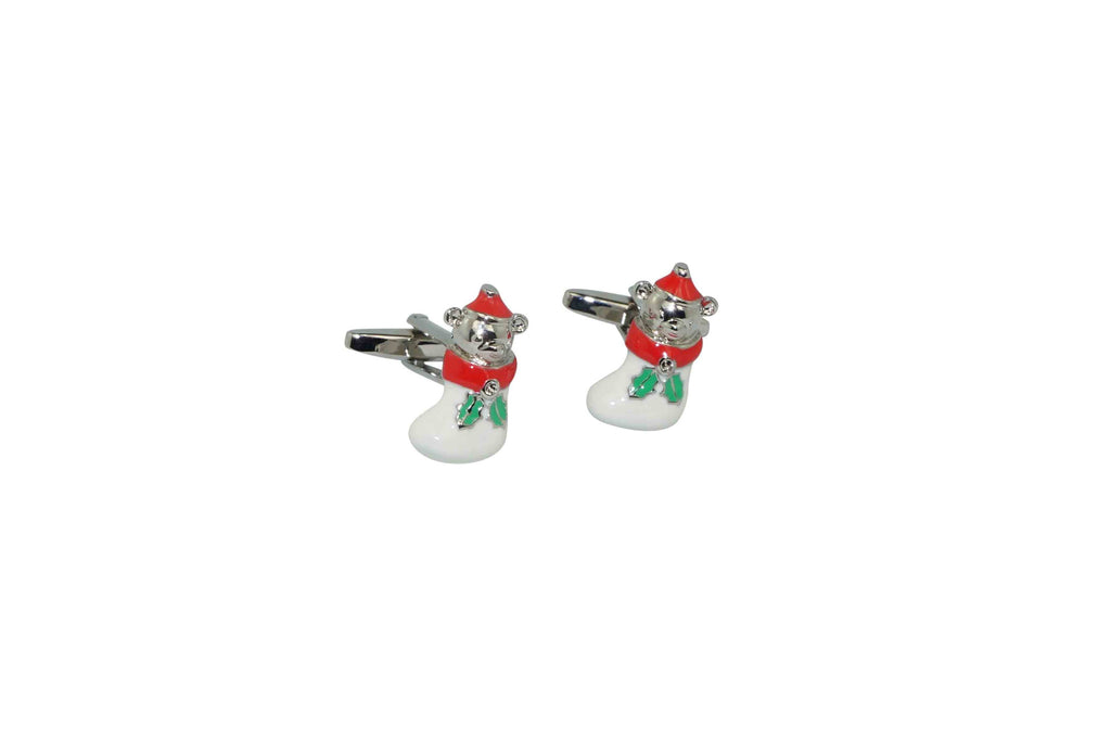 Bear Stocking Cufflinks