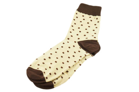 Beige Dots Men's Socks
