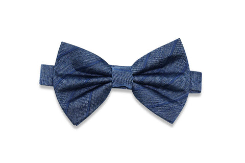 Billy Jean Stripes Silk Bow Tie (pre-tied)