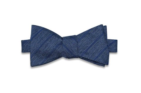 Billy Jean Stripes Silk Bow Tie (self-tie)