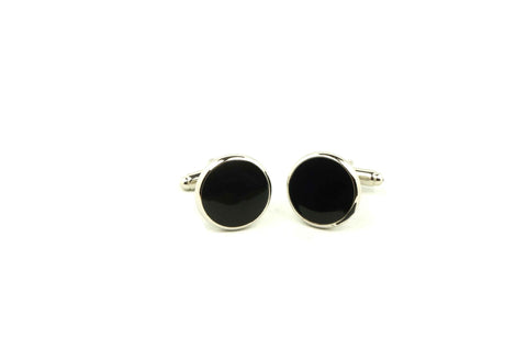 Black Centre Circle Cufflinks