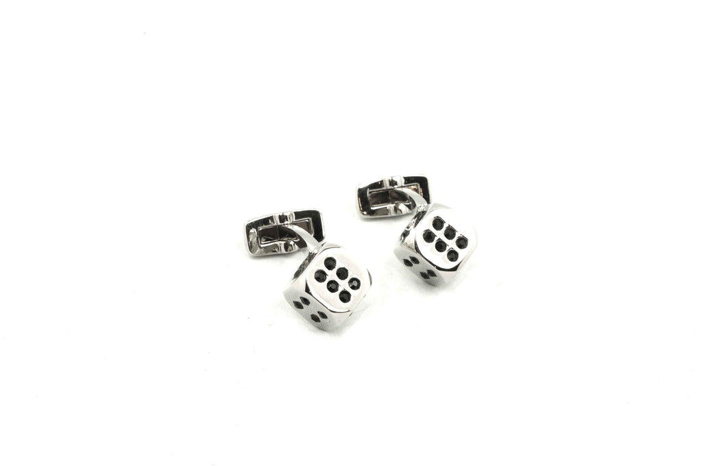 Black Dotted Dice Cufflinks