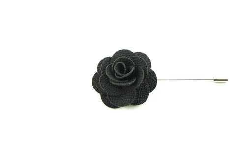 Black Lapel Flower
