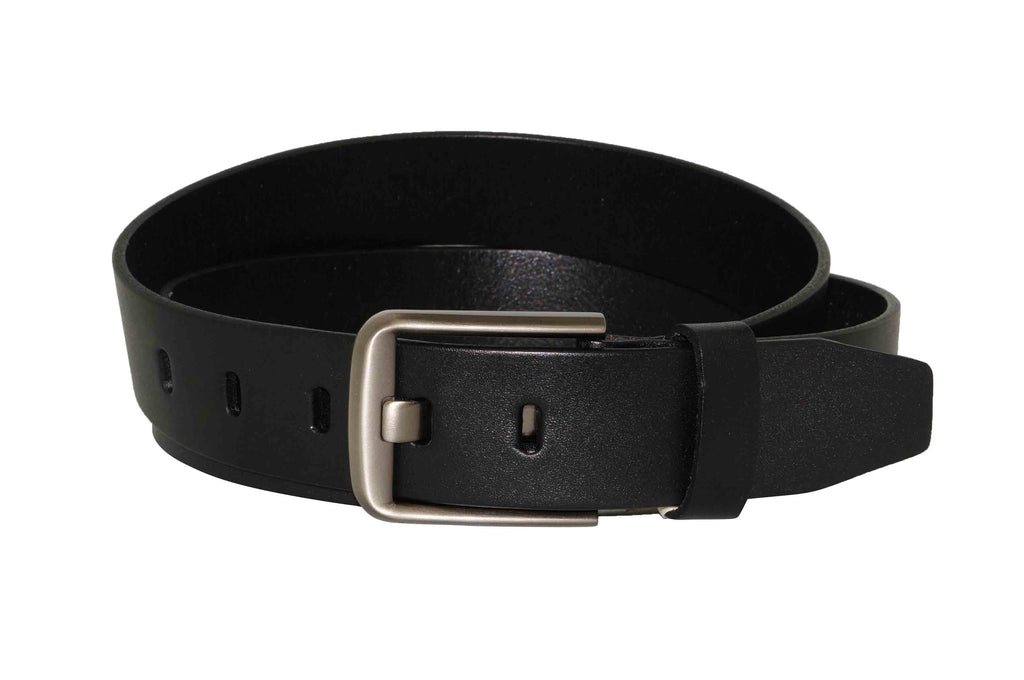 Black Leather Belt (Size: 32)