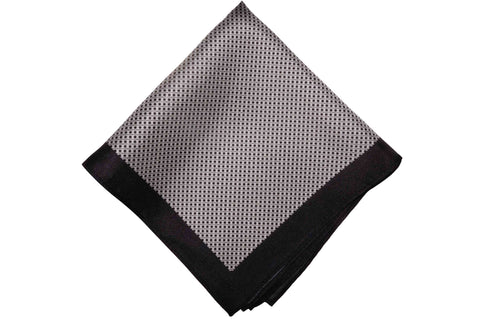 Black Mesh Silk Pocket Square