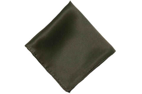 Light Black Grey Silk Pocket Square