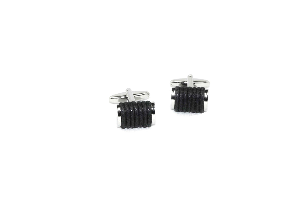 Black Twined Cufflinks