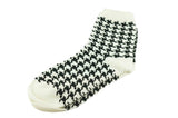 Black White Houndstooth Men's Socks