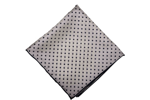 Blackmond Dotted Silk Pocket Square