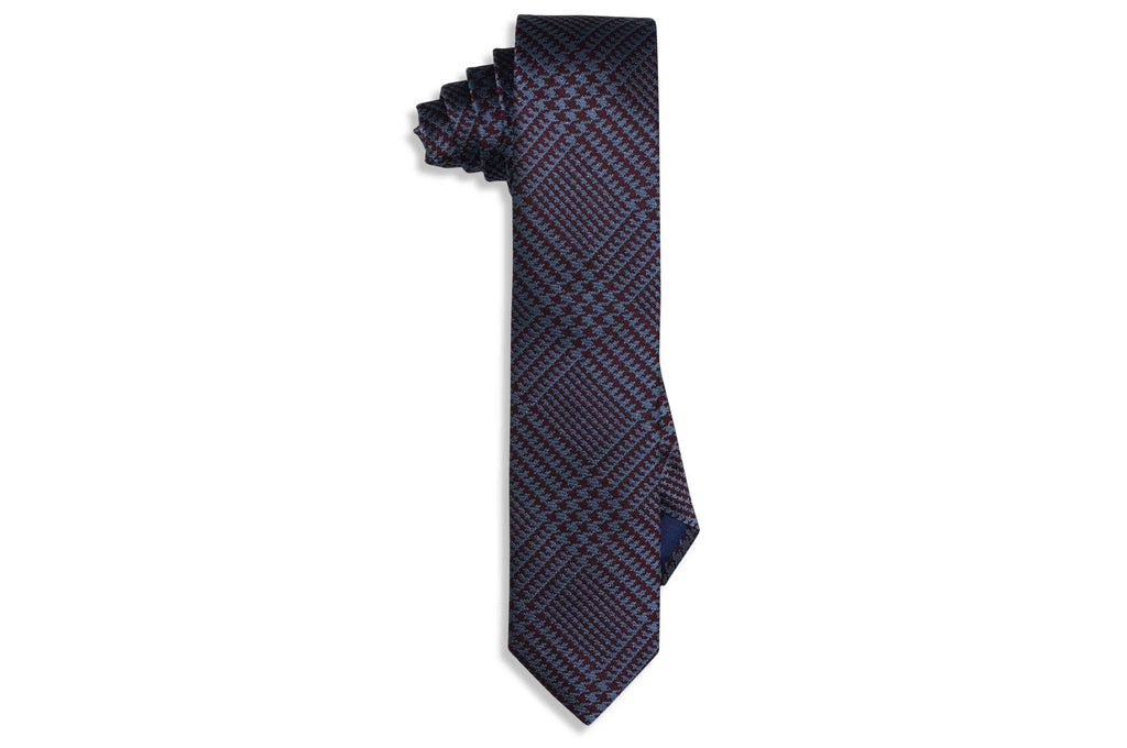 Block Stripes Silk Skinny Tie