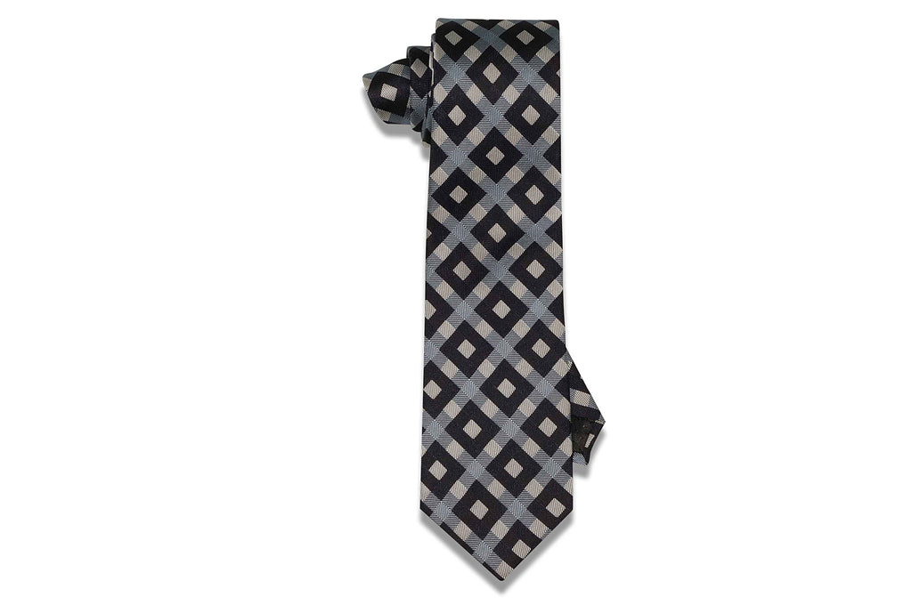 Blue Box Stripes Silk Tie