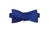 Blue Circled Silk Bow Tie (self-tie)