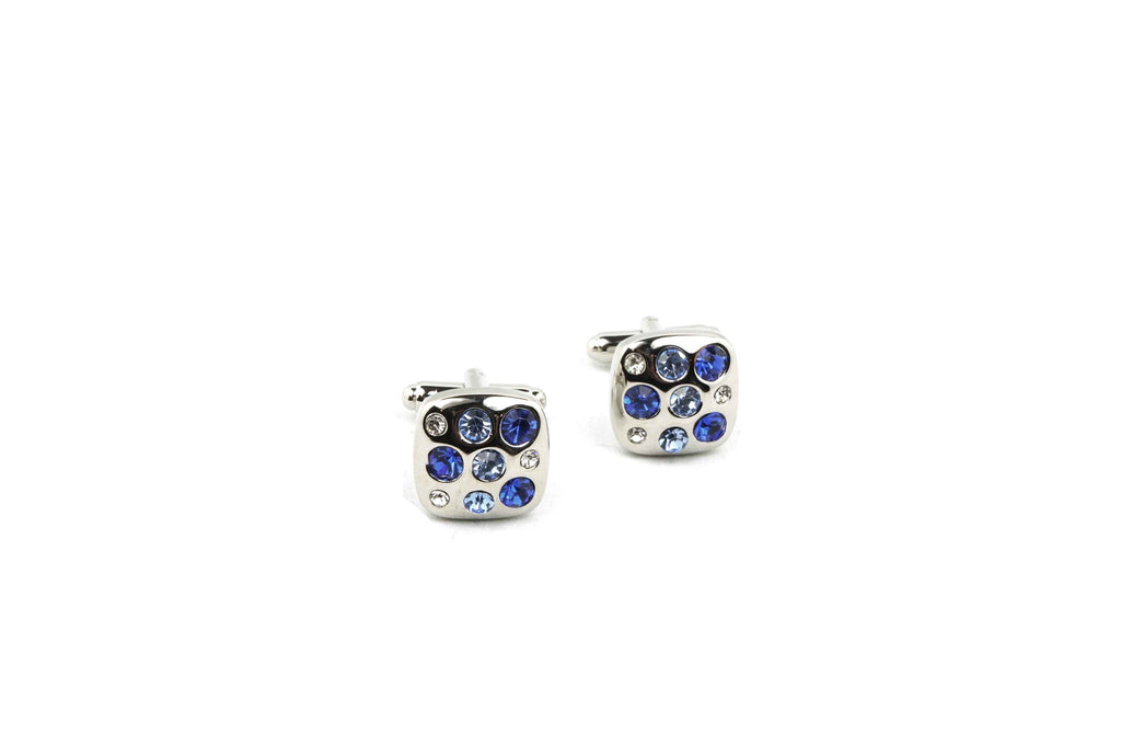 Blue Crystals Cufflinks