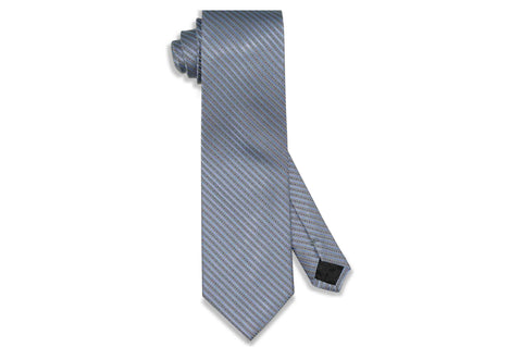 Blue Dot Stripes Silk Tie