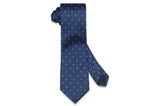 Blue Fall Silk Tie