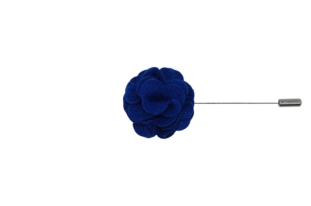 Blue Felt Overlay Lapel Flower