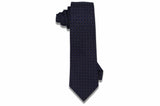 Blue Flowered Squares Wool Tie