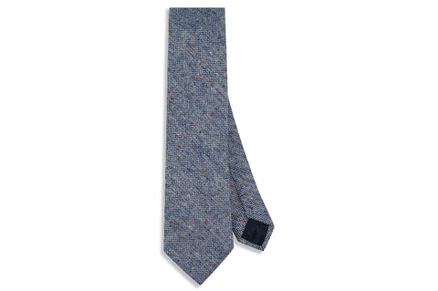 Blue Freckles Wool Skinny Tie