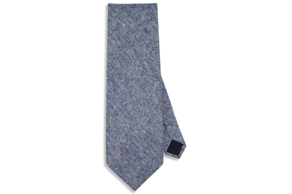 Blue Freckles Wool Tie