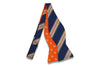 Blue Gold Reversible Silk Bow Tie (Self-Tie)