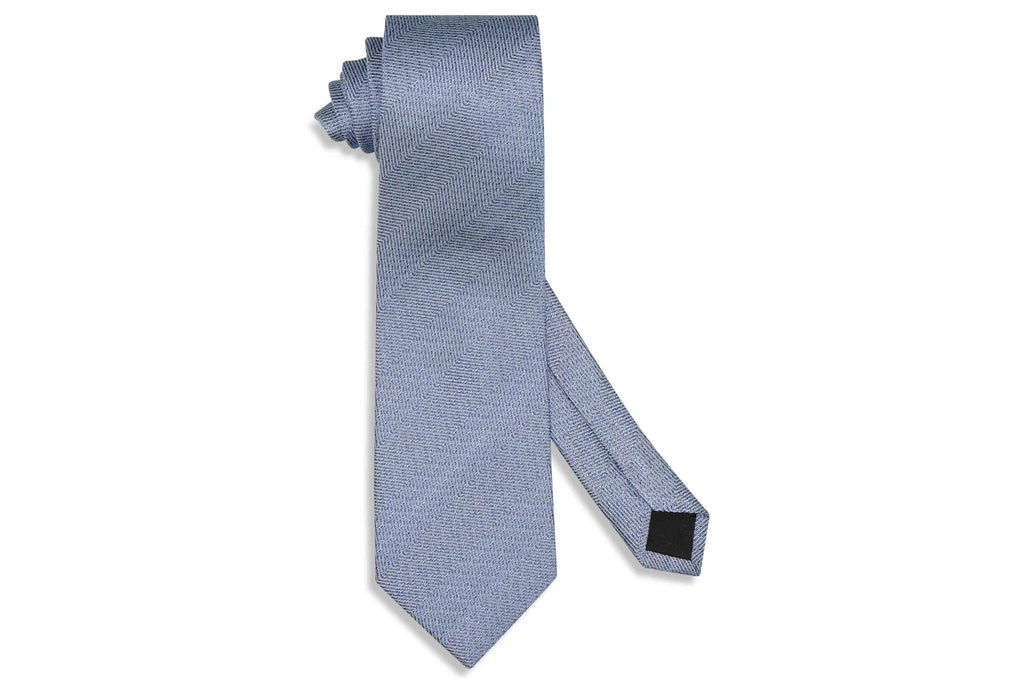 Blue Grained Silk Tie