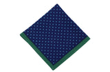 Blue Green Dots Wool Pocket Square