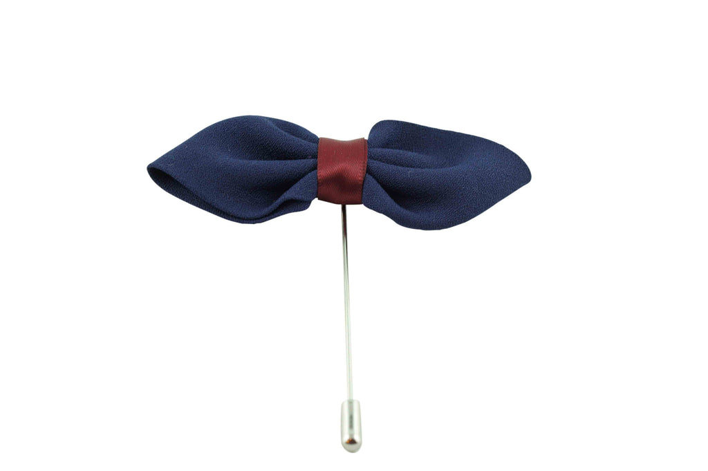 Blue Leaf Lapel Flower