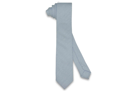 Blue Out Cotton Skinny Tie