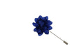 Blue Petal Lapel Flower