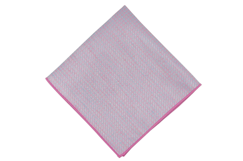 Blue Pink Linen Pocket Square