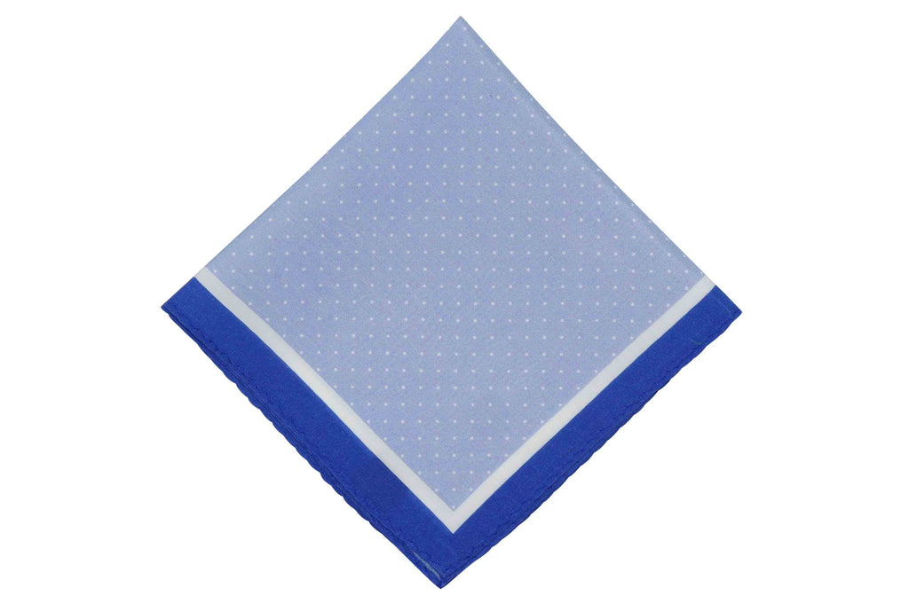 Blue Pins Cotton Pocket Square