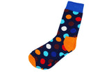 Blue Polka Dot Men's Socks