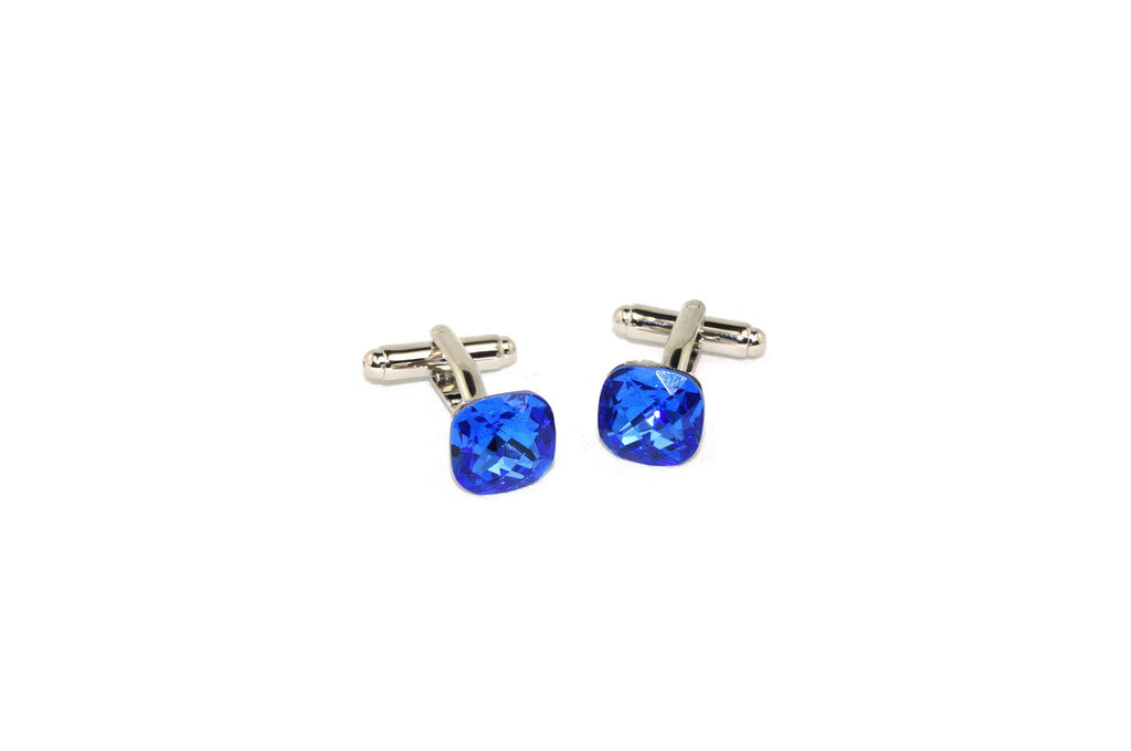 Blue Square Crystal Cufflinks