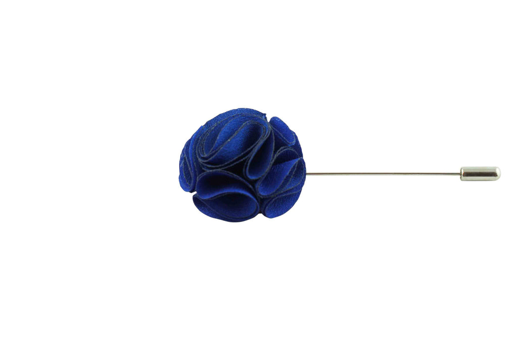 Blue Twirl Lapel Flower