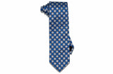 Blue White Stripes Silk Tie