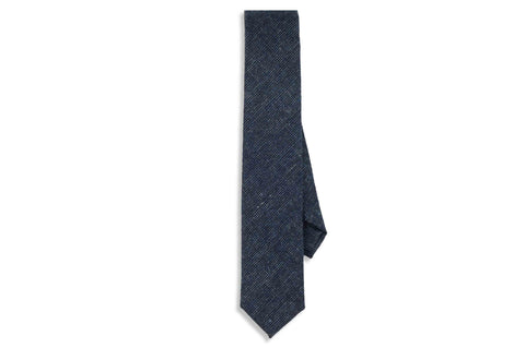 Blue Winter Wool Skinny Tie