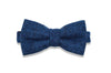 BLUE BERRY CLUES WOOL BOW TIE  (pre-tied)