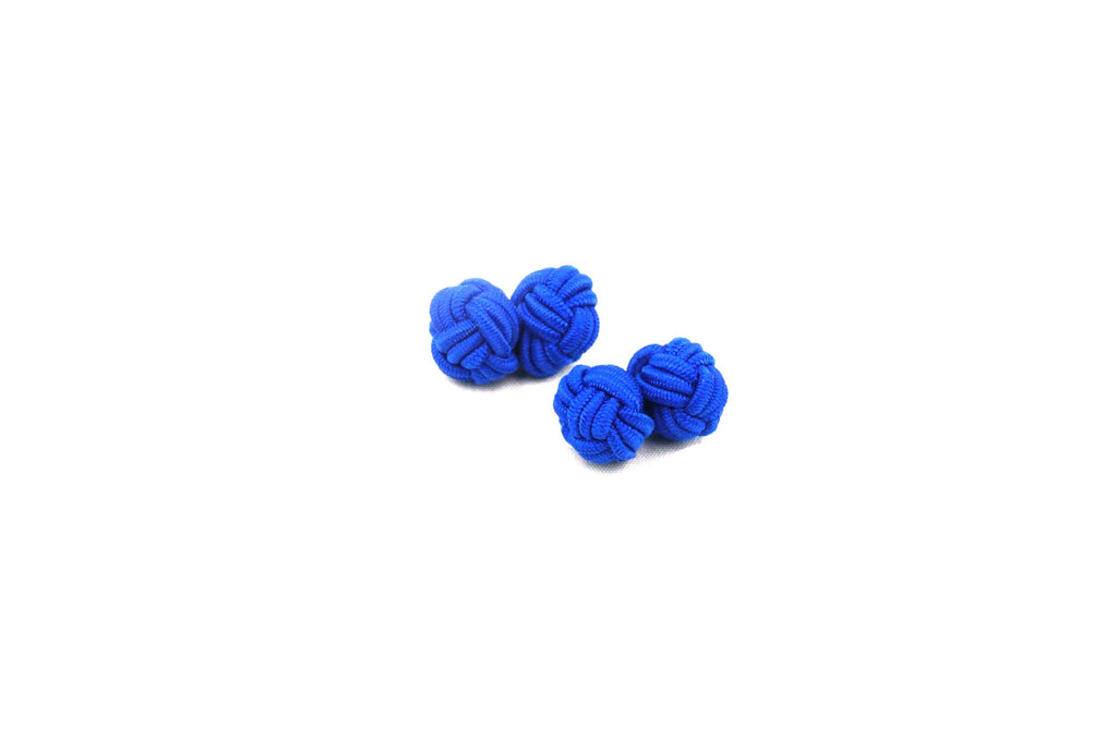Blue Knotted Cufflinks