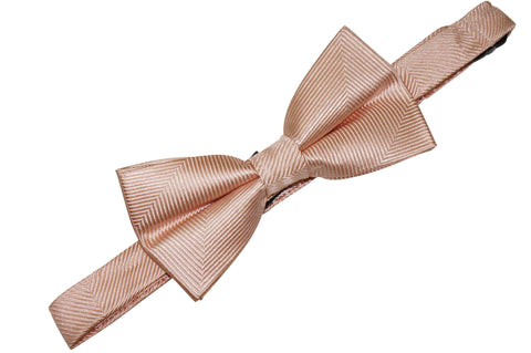 Blush Herringbone Silk Bow Tie (Boys)