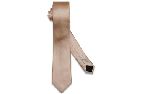 Blush Herringbone Silk Skinny Tie