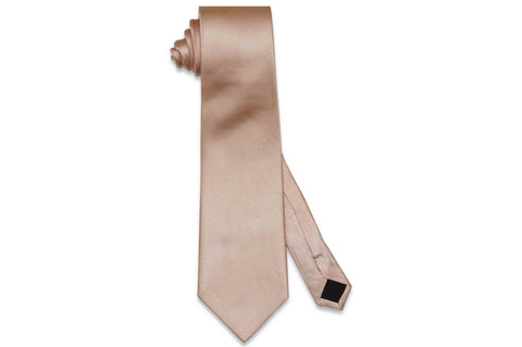 Blush Herringbone Silk Tie