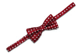Red White Polka Dot Bow Tie (Boys)