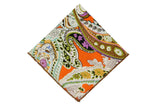 Bright Garden Cotton Pocket Square