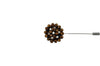 Bronze Jewel Lapel Flower
