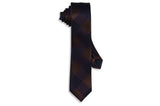 Brown Blocks Skinny Tie