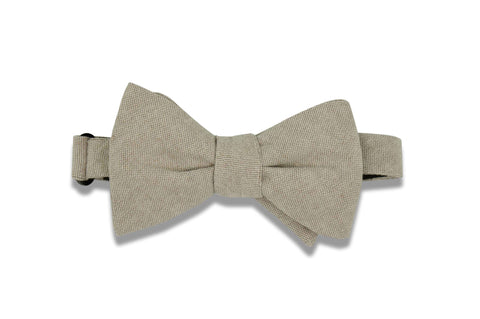 Brown Chambray Cotton Bow Tie (self-tie)