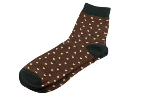 Brown Dots Men's Socks