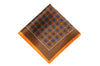 Brown Orange Medallions Silk Pocket Square