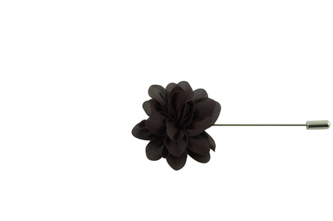 Brown Petal Lapel Flower